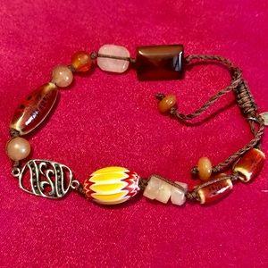 🔸pretty beads/sterling bracelet